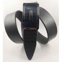 Мужской ремень с пряжкой зажим Millennium AZ35-061 черный