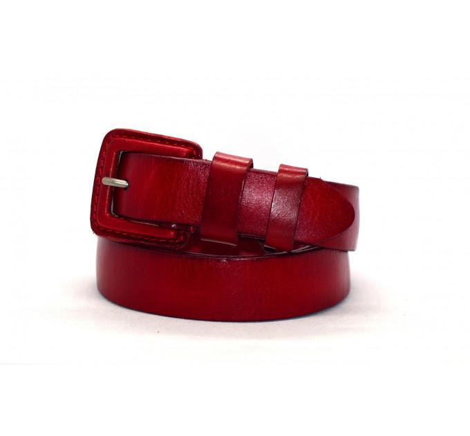 Женский ремень J30-008 красный