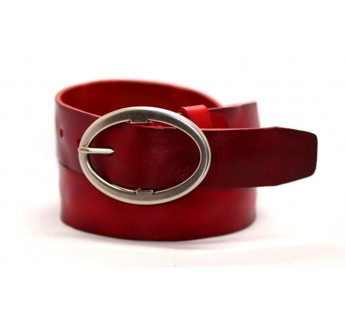 Женский ремень для джинсов J40-002 красный
