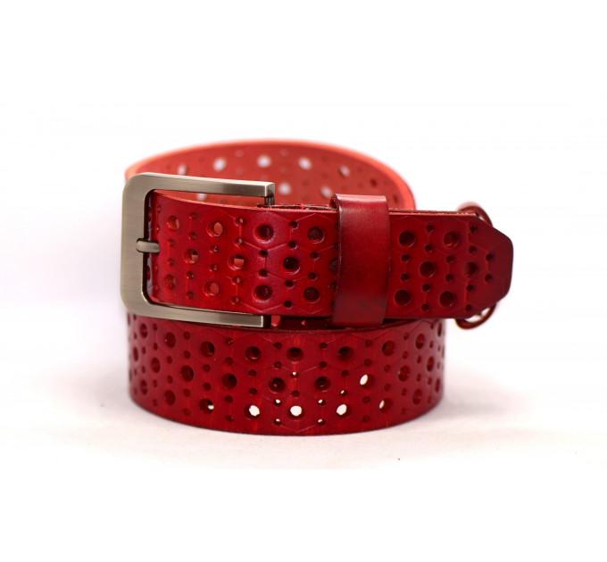 Женский ремень для джинсов J40-024 красный