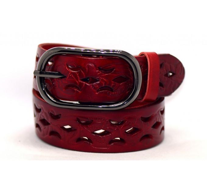 Женский ремень для джинсов J40-040 красный