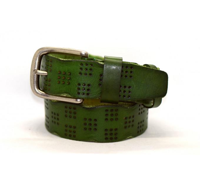Женский ремень для джинсов J40-050 зеленый