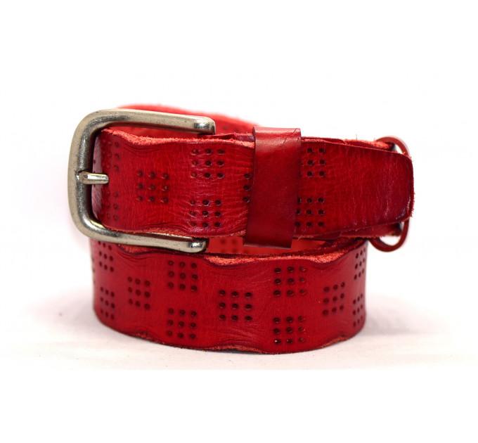 Женский ремень для джинсов J40-057 красный