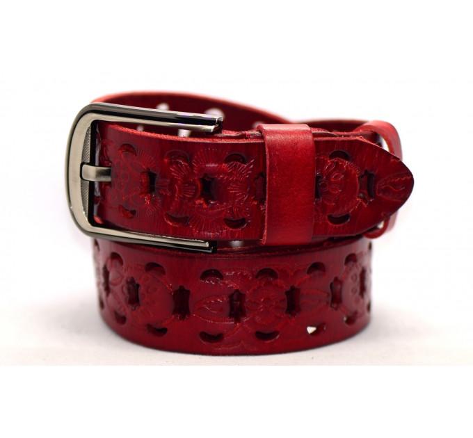Женский ремень для джинсов J40-062 красный