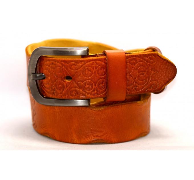 Женский ремень для джинсов J40-072 оранжевый