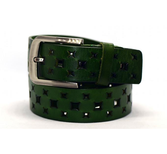 Женский ремень для джинсов J40-076 зеленый