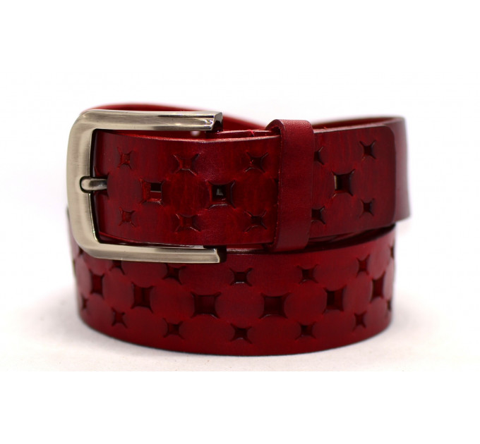 Женский ремень для джинсов J40-077 красный