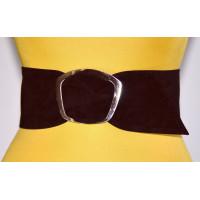 Широкий женский ремень GK-010 коричневый