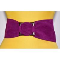 Широкий женский ремень GK-013 фиолетовый