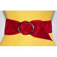 Широкий женский ремень GK-018 красный