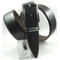 Мужской классический ремень Exclusive CB35-007 черный