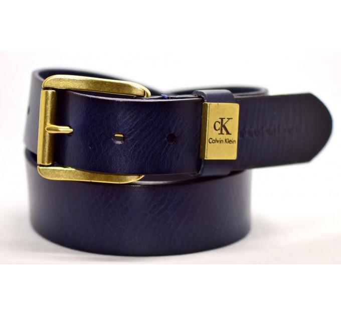 Мужской ремень джинсовый Exclusive ck40-017 синий
