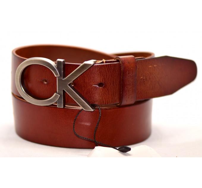 Мужской ремень джинсовый Exclusive ck40-039 коричневый