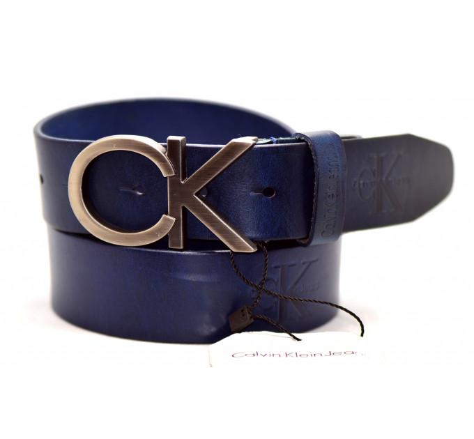 Мужской ремень джинсовый Exclusive ck40-041 синий