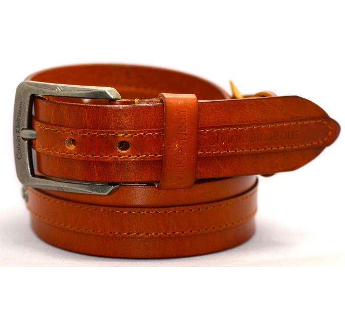 Мужской ремень джинсовый Exclusive ck40-043 оранжевый