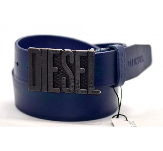 Мужской ремень джинсовый Exclusive DS40-045 синий