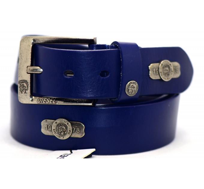Мужской ремень джинсовый Exclusive DS40-050 синий