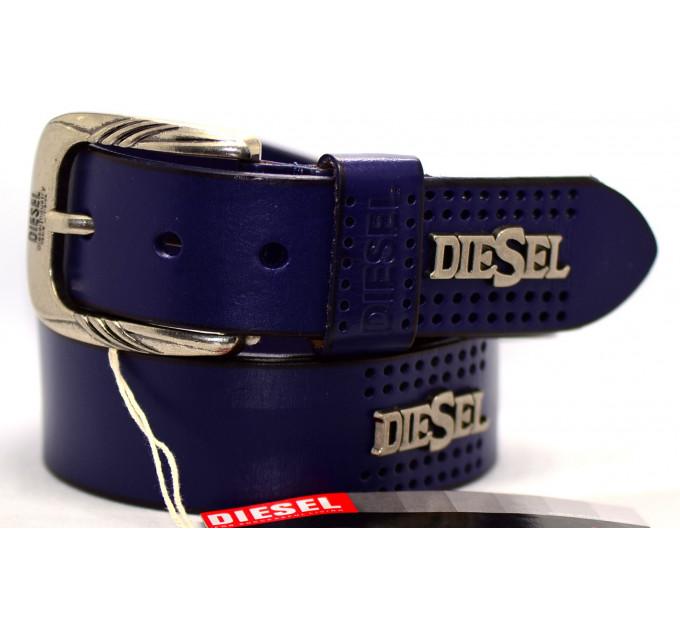 Мужской ремень джинсовый Exclusive DS40-054 синий