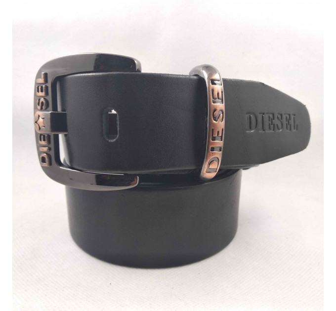 Мужской ремень джинсовый Exclusive DS40-082 черный