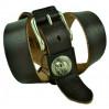 Мужской ремень джинсовый Exclusive HD40-002 коричневый