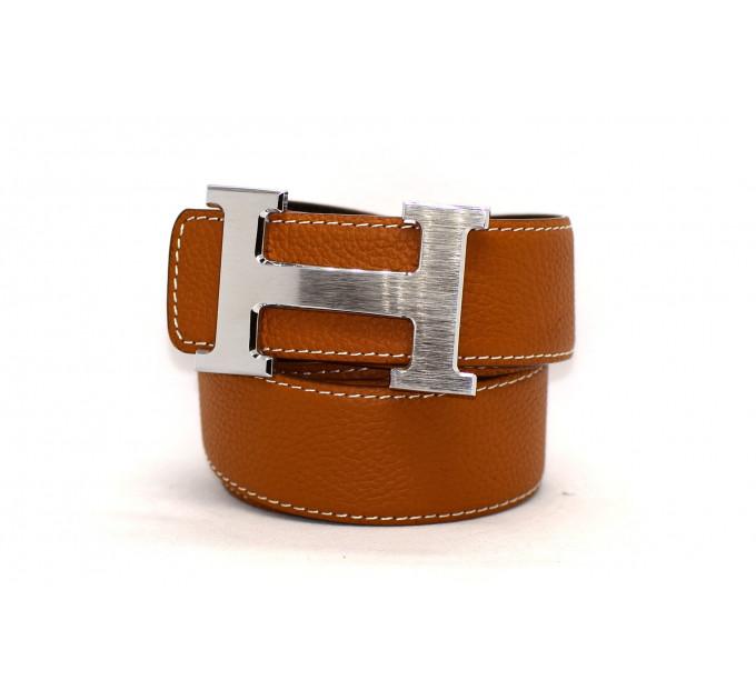 Ремень джинсовый H40-001 коричневый