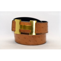 Ремень джинсовый H40-008 коричневый