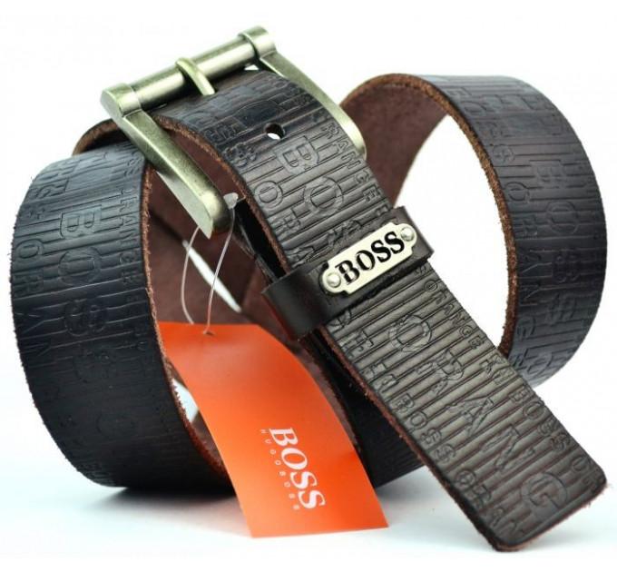 Мужской ремень джинсовый Exclusive hb40-005 коричневый
