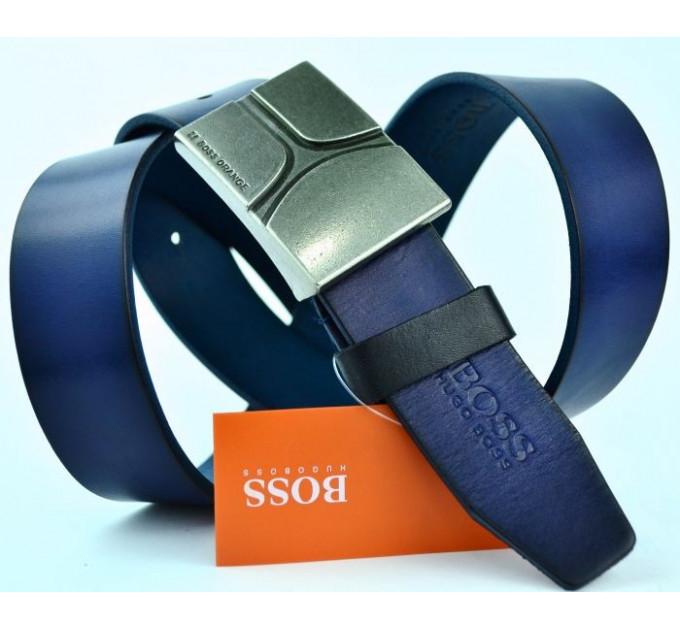 Мужской ремень джинсовый Exclusive hb40-007 синий