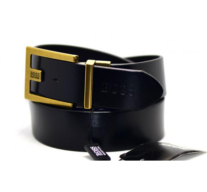 Мужской ремень джинсовый Exclusive hb40-017 черный