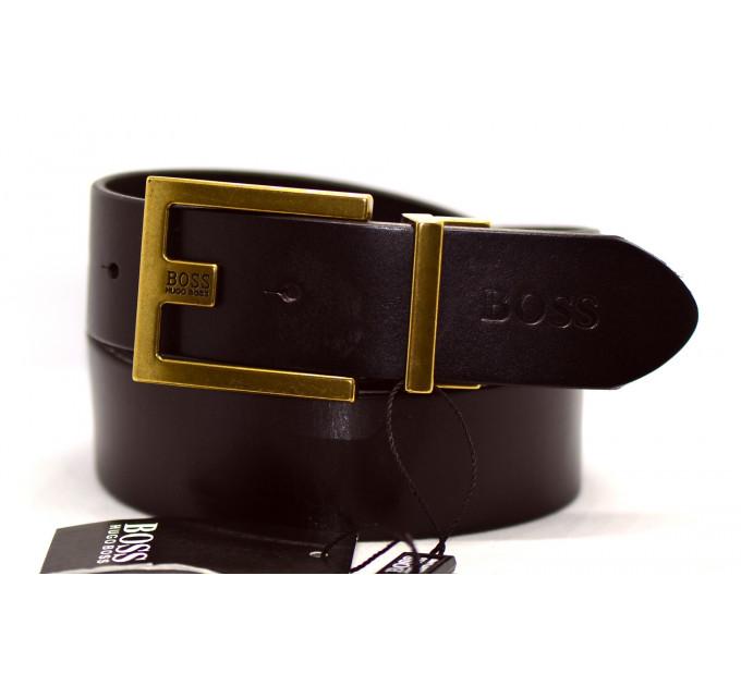 Мужской ремень джинсовый Exclusive hb40-018 коричневый