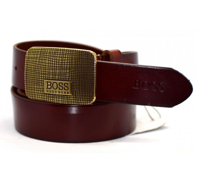 Мужской ремень джинсовый Exclusive hb40-020 коричневый
