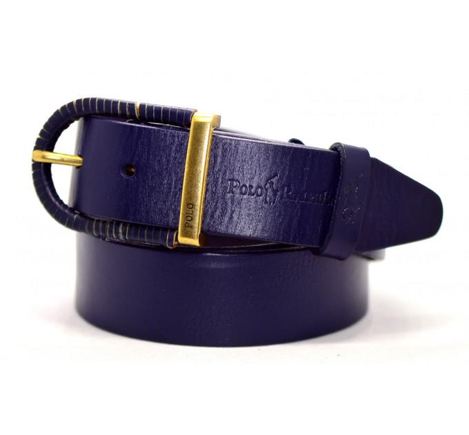 Мужской ремень джинсовый Exclusive P40-002 синий