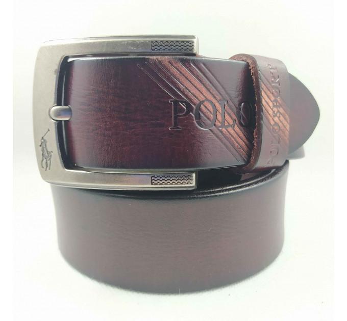 Мужской ремень джинсовый Exclusive P40-008 коричневый
