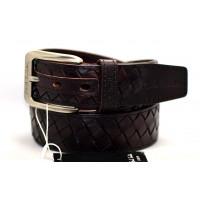 Мужской ремень джинсовый Exclusive ps40-015 коричневый