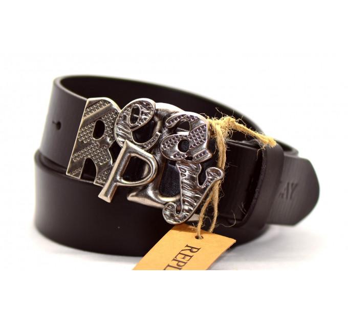 Мужской ремень джинсовый Exclusive rp40-006 коричневый