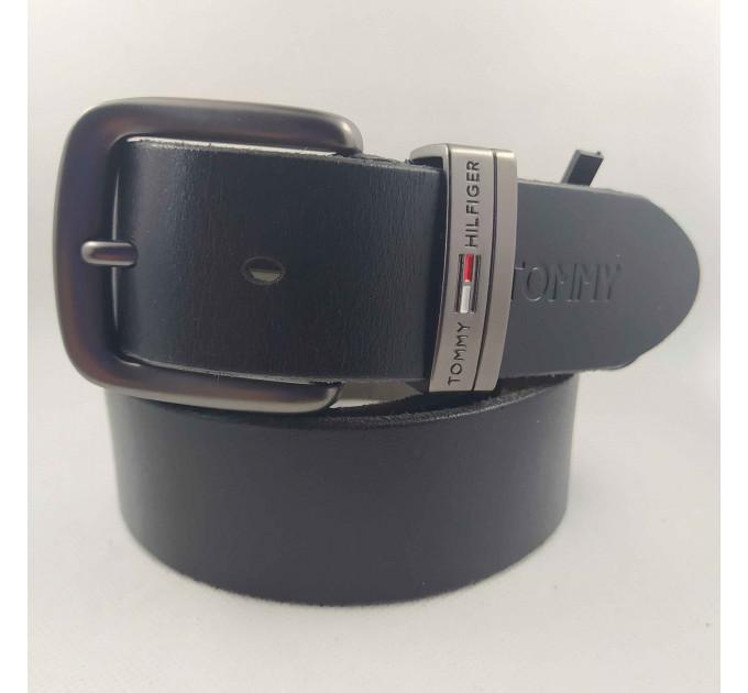 Мужской ремень джинсовый Exclusive TH40-041 черный