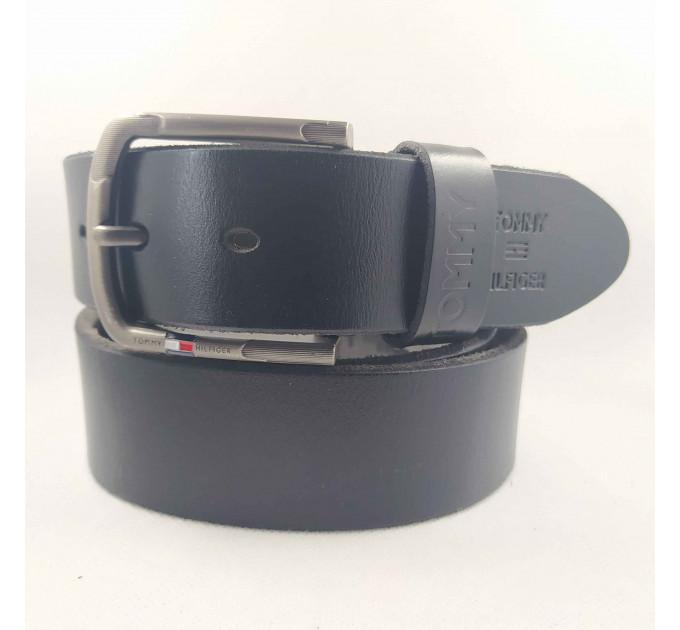 Мужской ремень джинсовый Exclusive TH40-043 черный