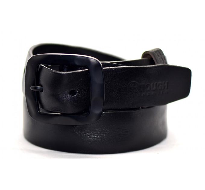 Мужской ремень джинсовый Exclusive tough40-001 черный