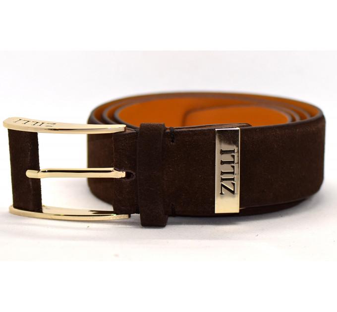 Мужской ремень джинсовый Exclusive z40-003 коричневый