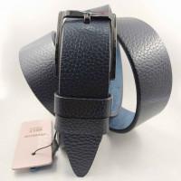 Мужской ремень джинсовый BELT PREMIUM C40-080 темно-синий