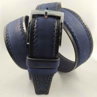 Мужской ремень джинсовый New Style C40-086 синий