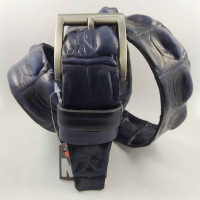 Мужской ремень джинсовый New Style C40-090 темно-синий