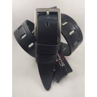 Мужской ремень джинсовый BELT PREMIUM C40-093 черный