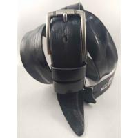 Мужской ремень джинсовый BELT PREMIUM C40-095 черный