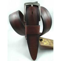 Мужской ремень джинсовый DNKA С40-150 коричневый