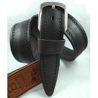 Мужской ремень джинсовый DNKA С40-156 темно-коричневый
