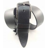 Мужской ремень джинсовый BELT PREMIUM С45-031 черный
