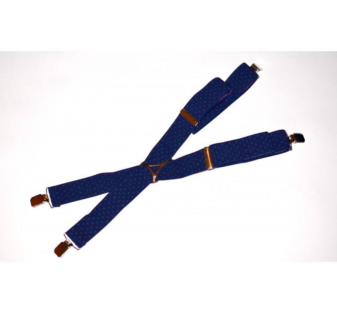 Подтяжки галстучные P35-011 синий