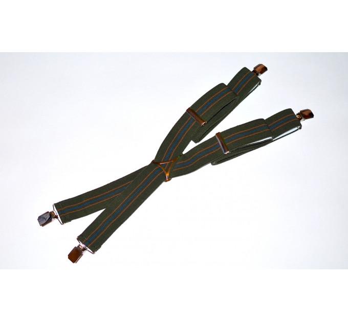 Подтяжки галстучные P35-016 хаки